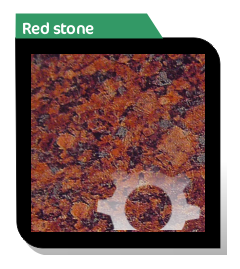 red stone effect aluminium composite